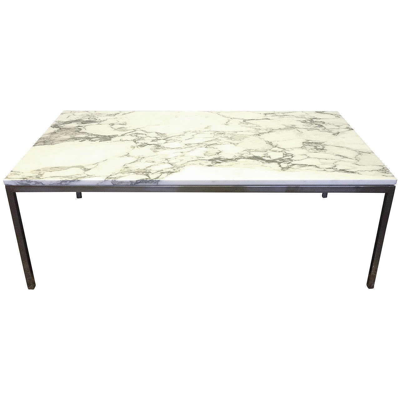 Florence knoll coffee table in white marble at 1stdibs White marble coffee table