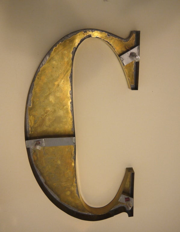 bronze made letters for display decoration sign lot of