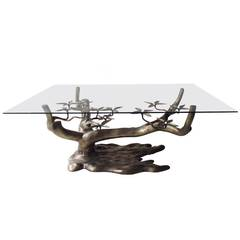 Beautiful Tree Coffee Table in Bronze by Willy Daro