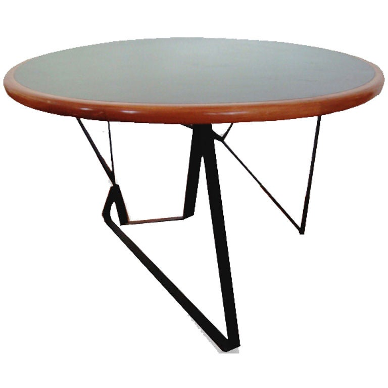 Faye toogood element table - Diego Matthai Dinning Table Steel And Wood At 1stdibs