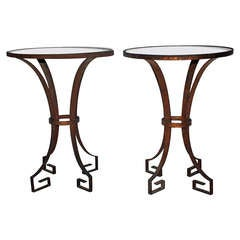 Arturo Pani Steel Pair Of Side Tables