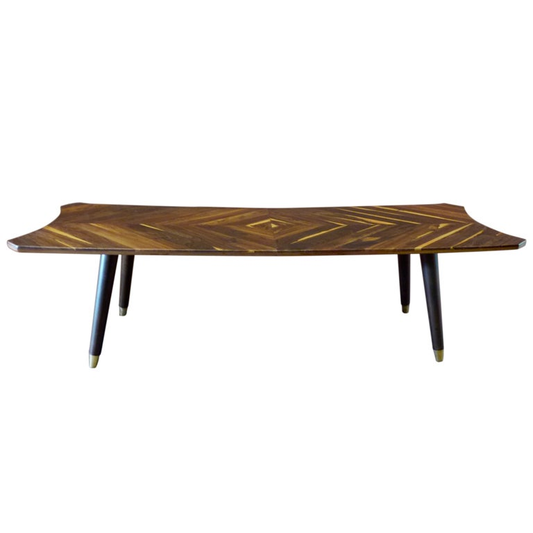 Coffee Table In Cocobolo Tropical Wood Mexican Design 50 S At 1stdibs