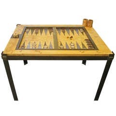 Tommaso Barbi Root Wood Backgamon Game Table