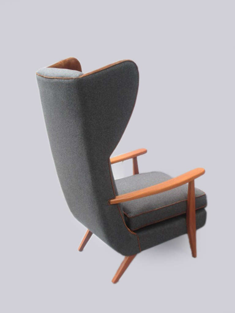 modern bergere chair late 50s at 1stdibs. Black Bedroom Furniture Sets. Home Design Ideas