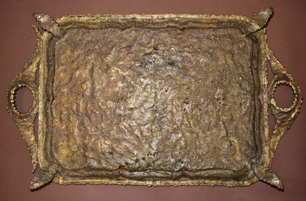 Pal kepenyes brass tray 1964 signed at 1stdibs for Canape 06700