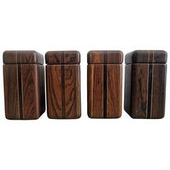 Four Spice Boxes in Cocobolo by Don Shoemaker, circa 1960