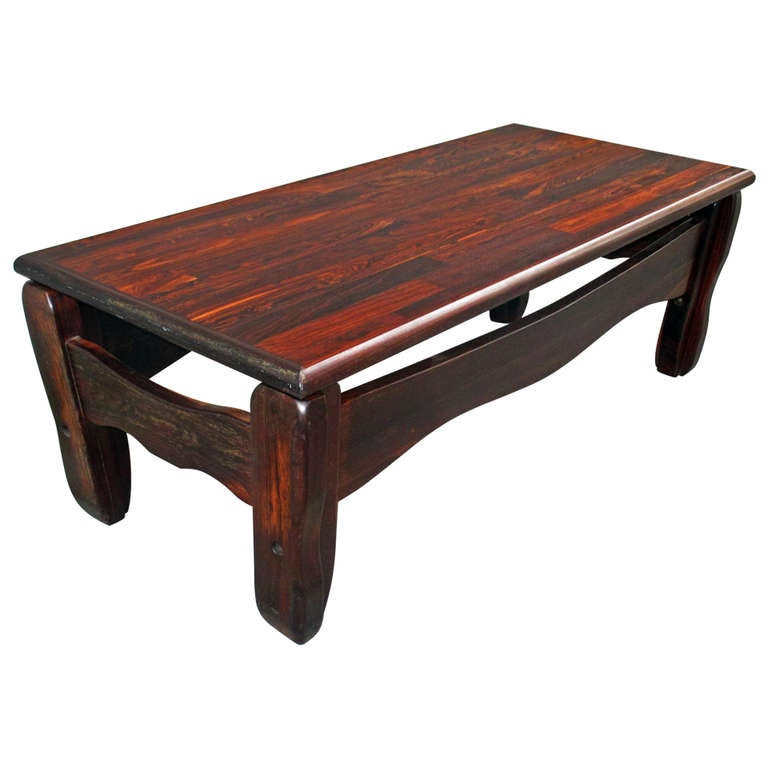 Don Shoemaker Coffee Table Tropical Woods At 1stdibs