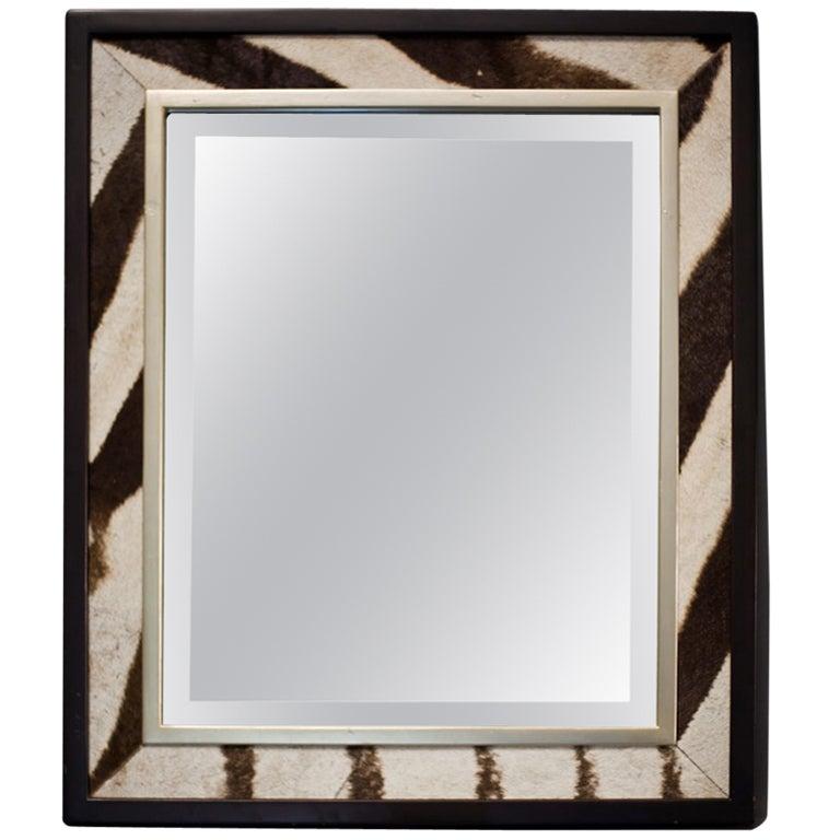 Original Zebra Skin Mirror At 1stdibs