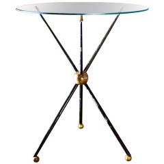 Arturo Pani brass and glass coffee table 1950's