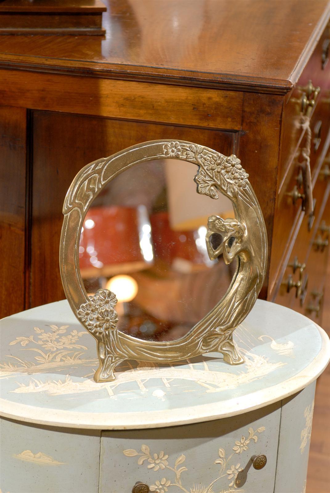 Art Nouveau Bronze Dressing Mirror At 1stdibs