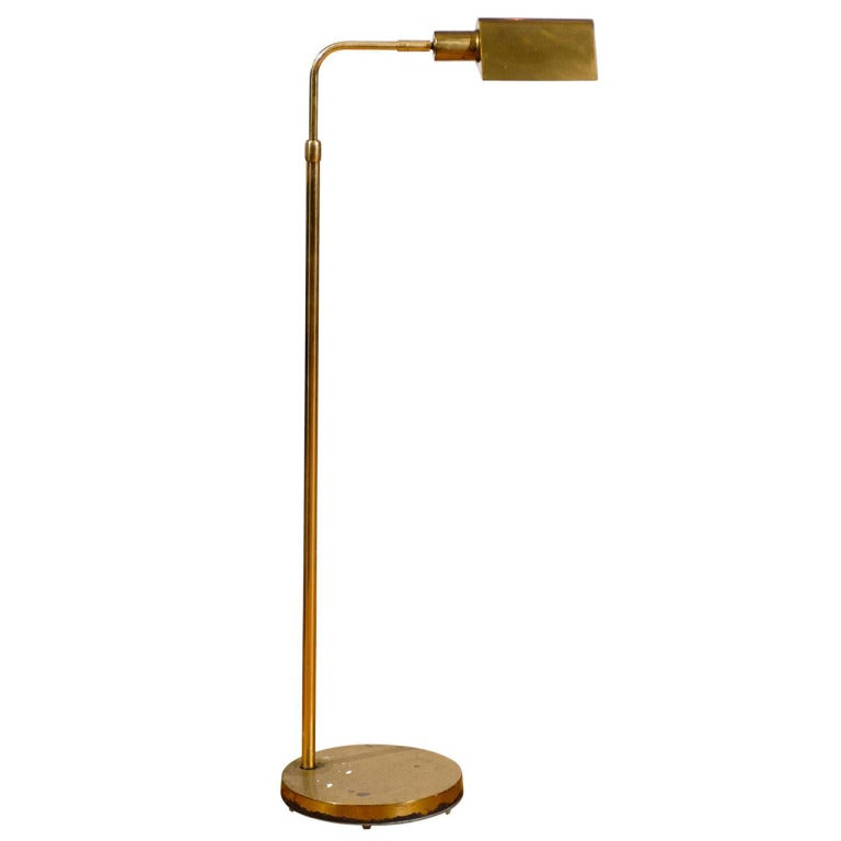 pharmacy floor lamp of brass at 1stdibs. Black Bedroom Furniture Sets. Home Design Ideas