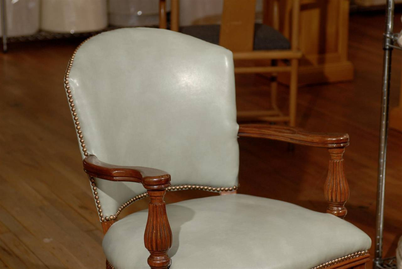 William IV Leather Library Chair 6