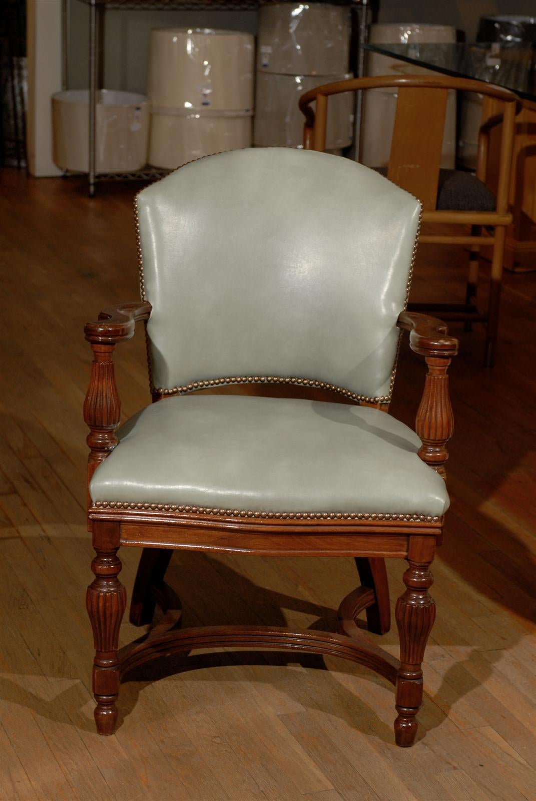 William IV Leather Library Chair 5