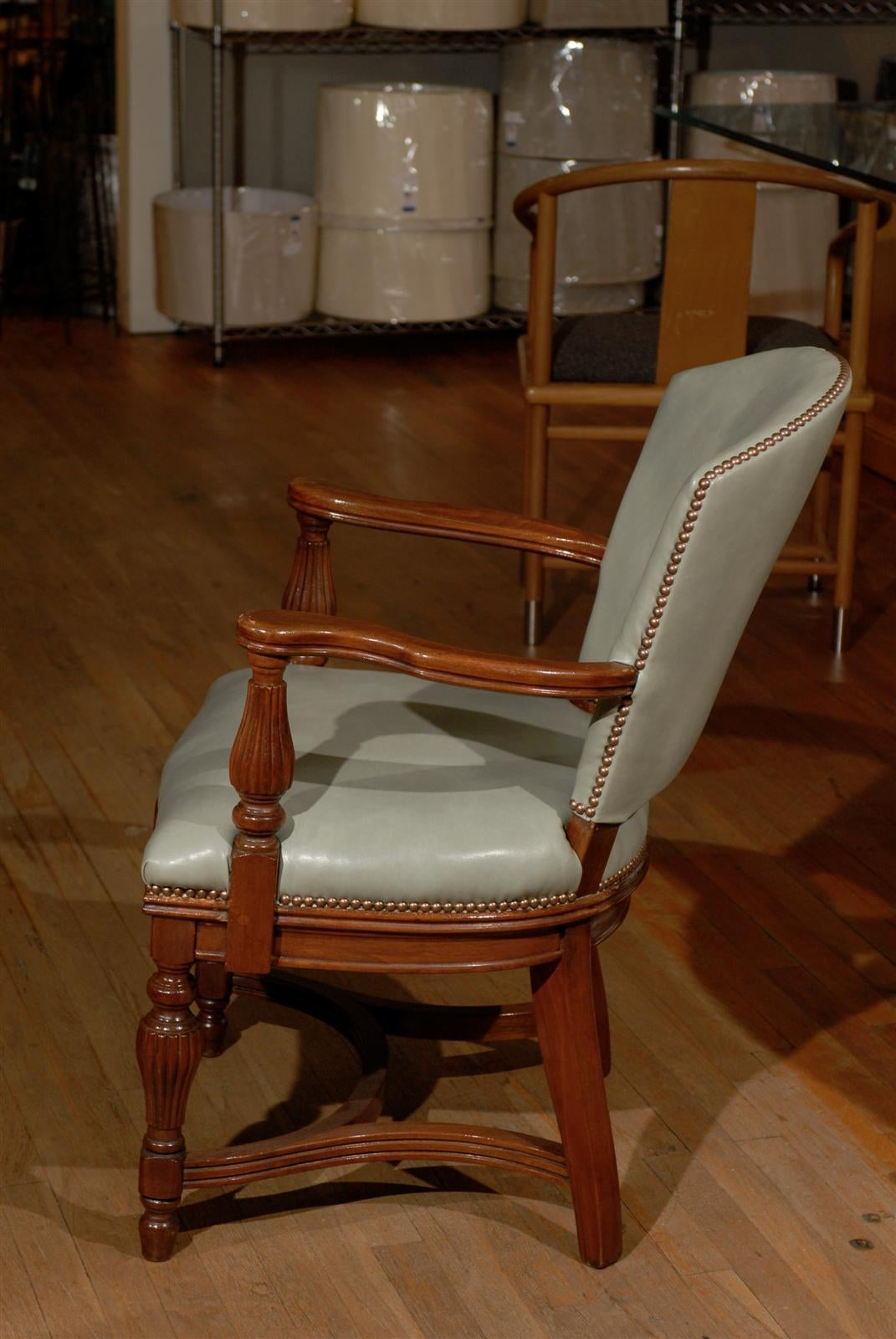 William IV Leather Library Chair 7