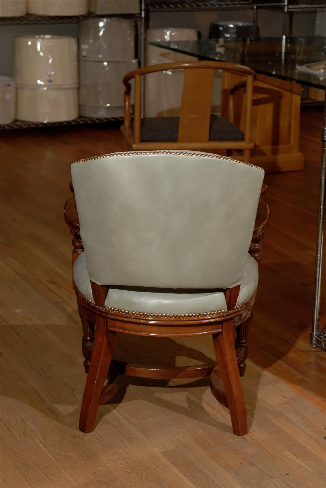 William IV Leather Library Chair 4