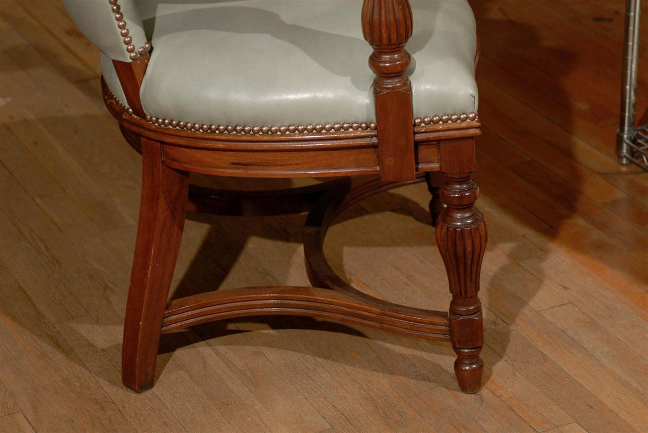 William IV Leather Library Chair 9