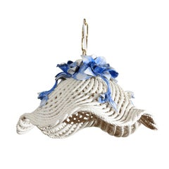 Blue and White Porcelain Flower Basket Chandelier
