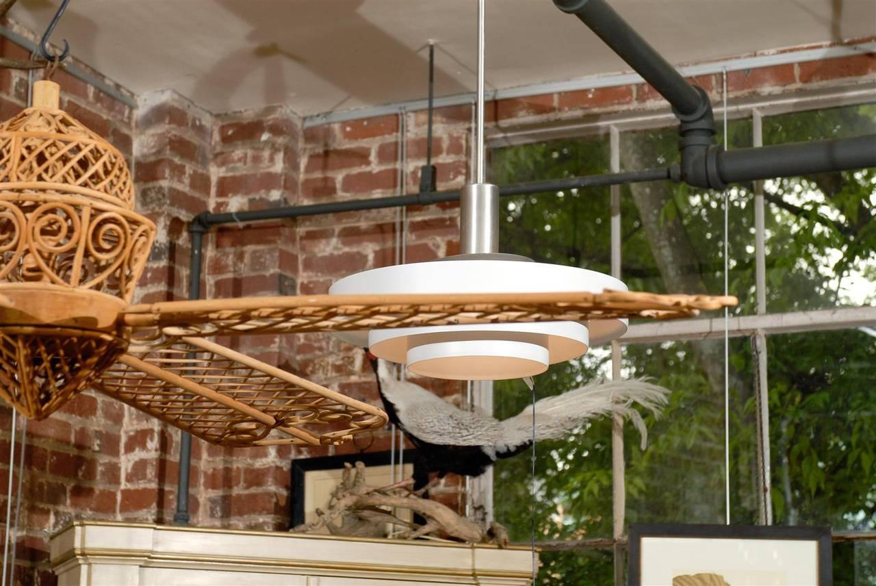Vintage Rattan Ceiling Fan At 1stdibs
