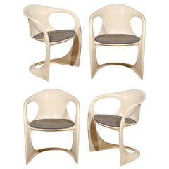 """Set of Four Alexander Begge for Casala """"Casalino"""" Dining Chairs"""