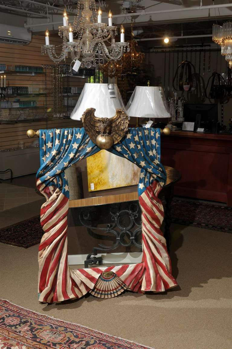 American Flag Mirror At 1stdibs
