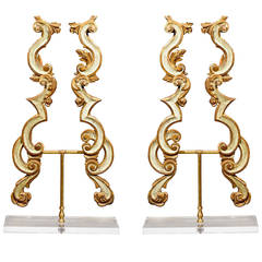 Italian Architectural Fragments Mounted as a Pair of Sculptures