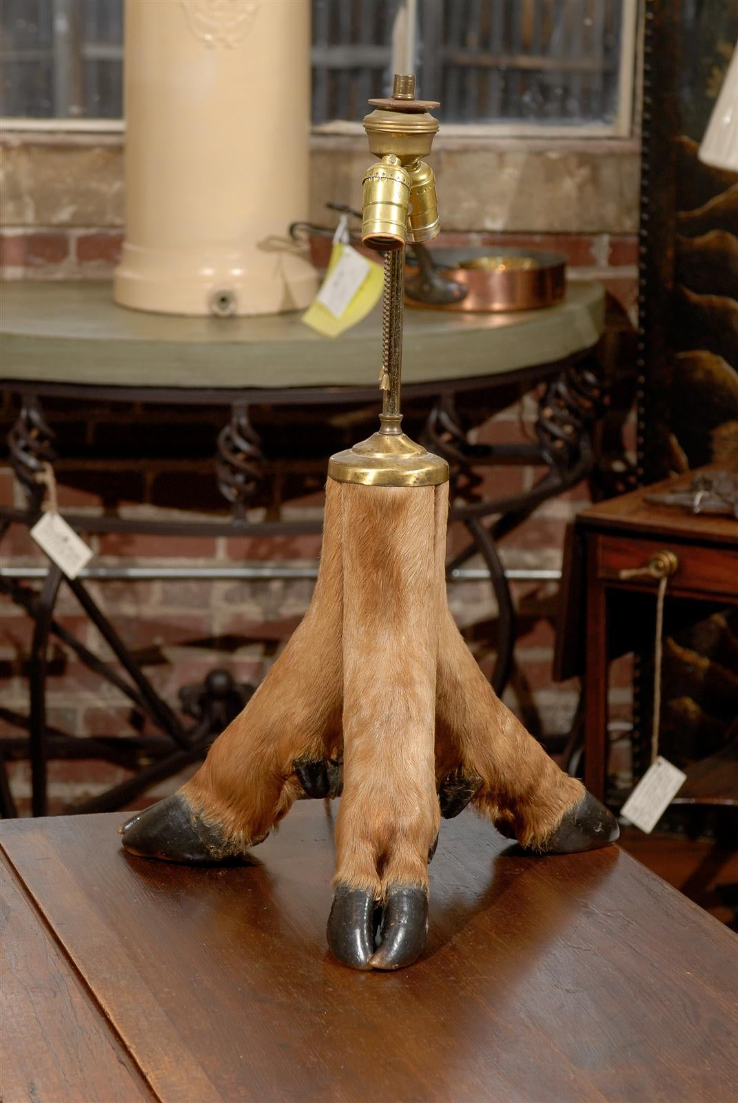 Elk Hoof Table Lamp at 1stdibs