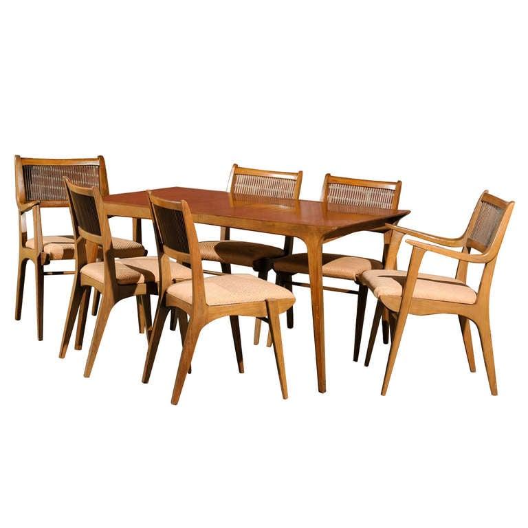 modernist dining suite designed by john o van koert for
