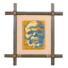Skull and Crossbones Framed Painting
