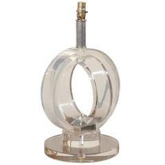 Mid Century Lucite Table Lamp