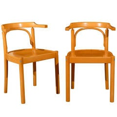 Mid Century Pair of Beechwood Chairs