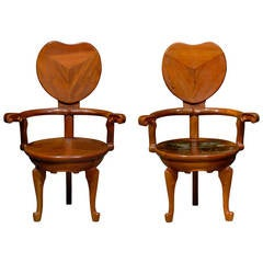 Pair of Chairs in the style of Antoni Gaudi
