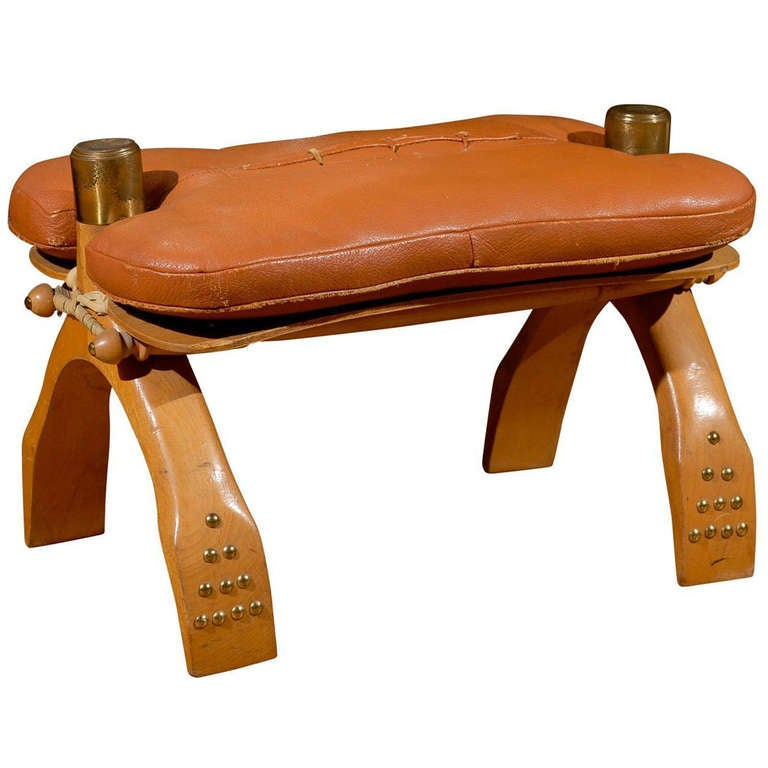Mid Century Egyptian Camel Saddle Stool At 1stdibs