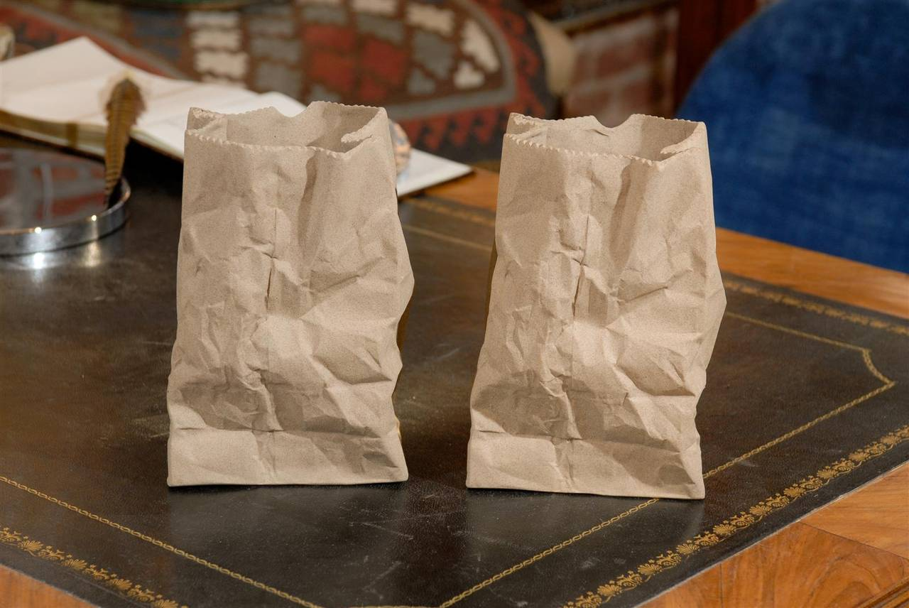 Paper bag vase crafthubs pair of ceramic paper bag vases at 1stdibs reviewsmspy