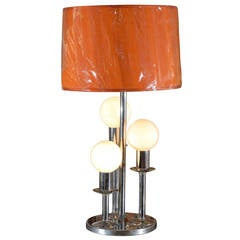 Mid-Century Modern Chrome Lamp