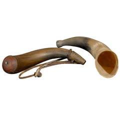 A Black Powder Horn and a Fox Horn