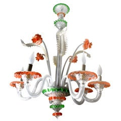 Murano 6-Light Glass Chandelier