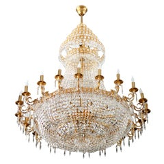 French Louis XVI-Style 45-Light Swarovski Crystal Chandelier