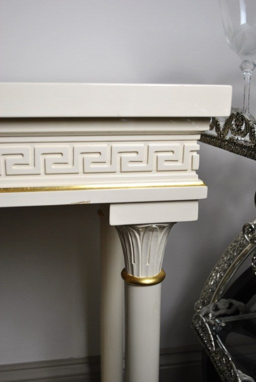 versace style entrance table and matching wall mirror at 1stdibs