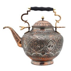 Antique Persian Copper Teapot
