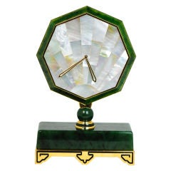 Cartier Desk Clock in the Art Deco Style