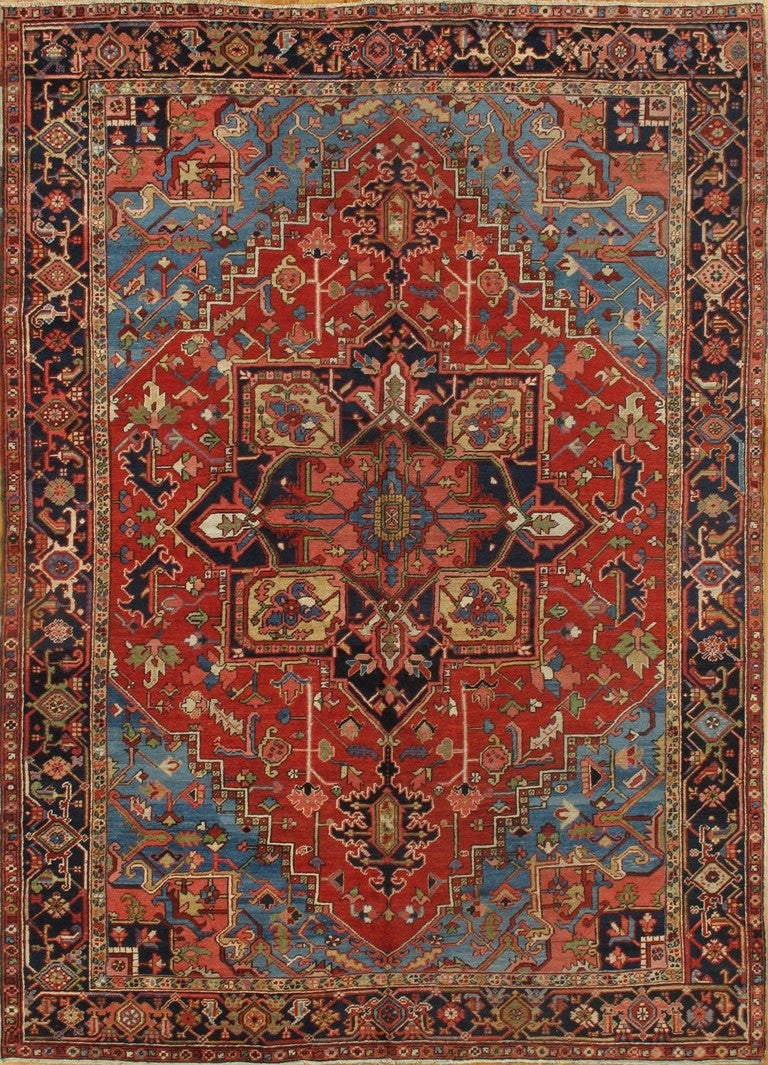 Antique Heriz Rug At 1stdibs