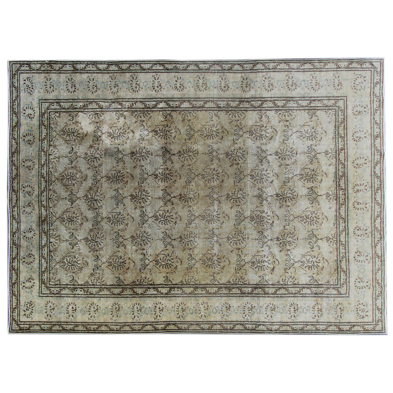 Nice looking semi antique tabriz rug for sale at 1stdibs for Nice rugs for sale