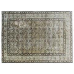 Handmade Antique Tabriz Wool Rug
