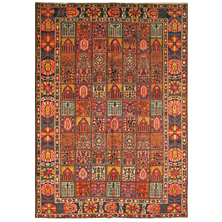 Lovely nice antique bakhtiary rug for sale at 1stdibs for Nice rugs for sale