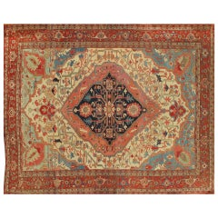19th Century Antique Persian Serapi Carpet