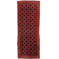Early 19th Century Red/Blue Turkish Khotan Carpet