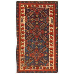 Late 19th Century Red/Blue Caucasian Carpet