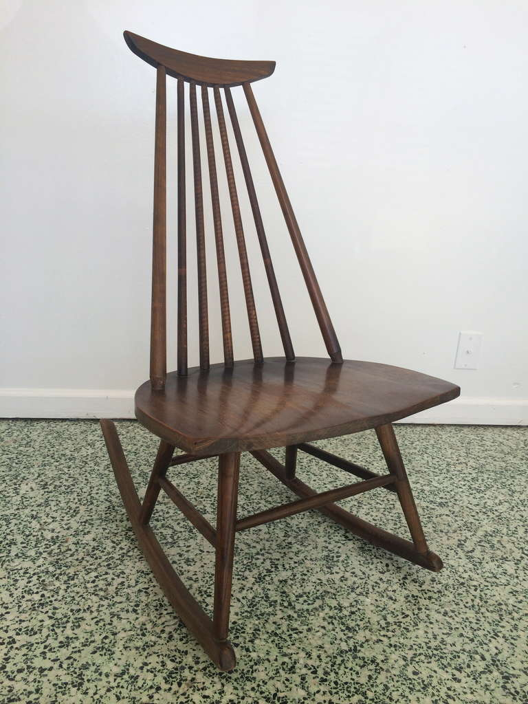 danish modern midcentury rocking chair 3