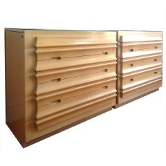 Pair Romweber Chests Large Dressers with Side Compartments