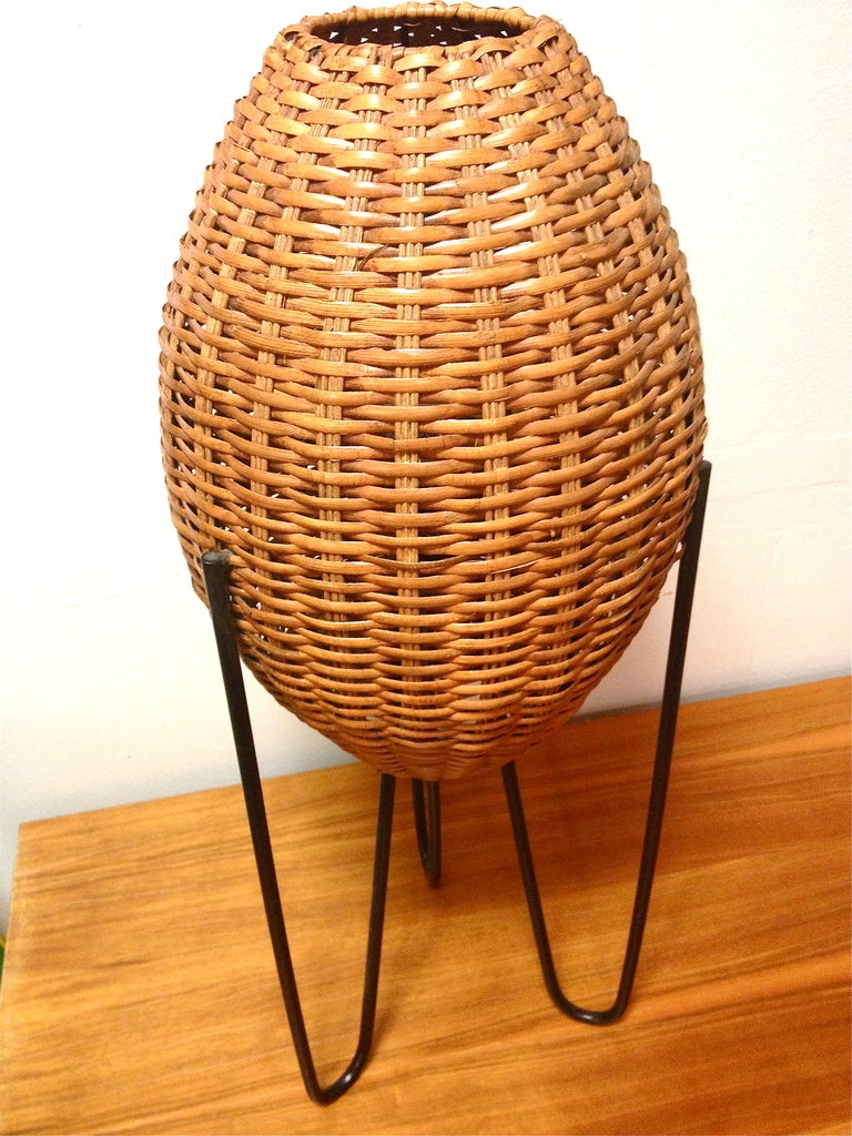 Table clear glass console table glass and chrome console table glass - This Mid Century Tripod Hairpin Table Lamp With Rattan Shades Is No